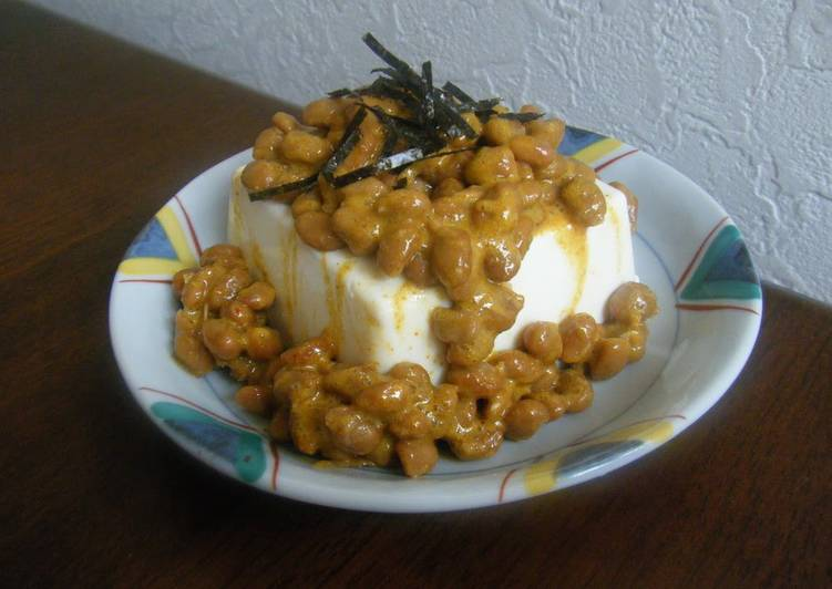 Steps to Prepare Award-winning Curry Natto Cold Tofu or Boiled Tofu for Diet