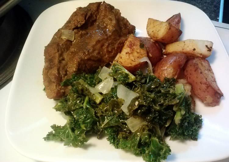 Sauteed Kale and Sweet Onion