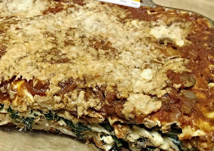 Recipe of Perfect Spinach and mushroom lasagna