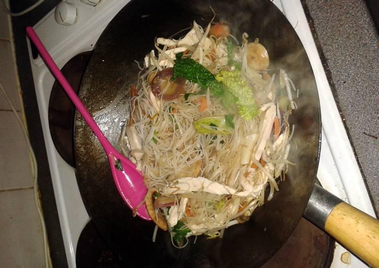 Easy chicken and mushroom stir fry