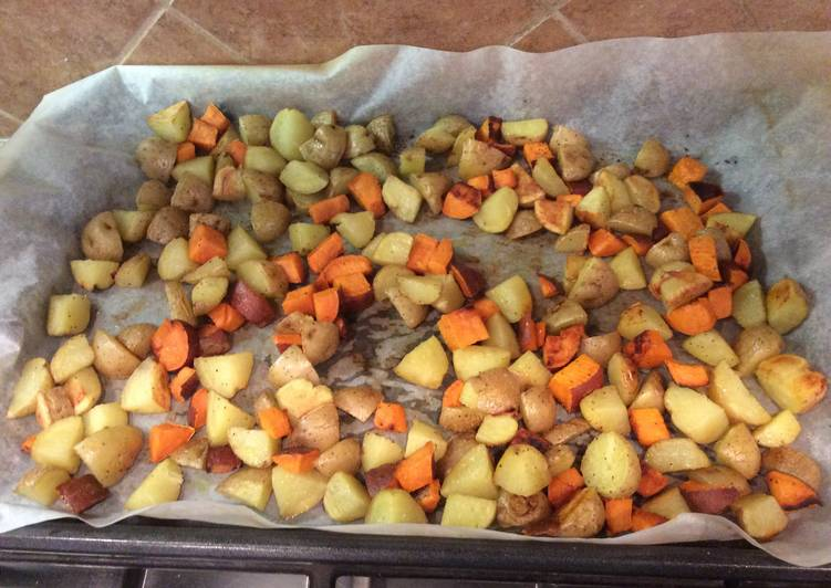 Roasted Baby Golden/Sweet Potatoes