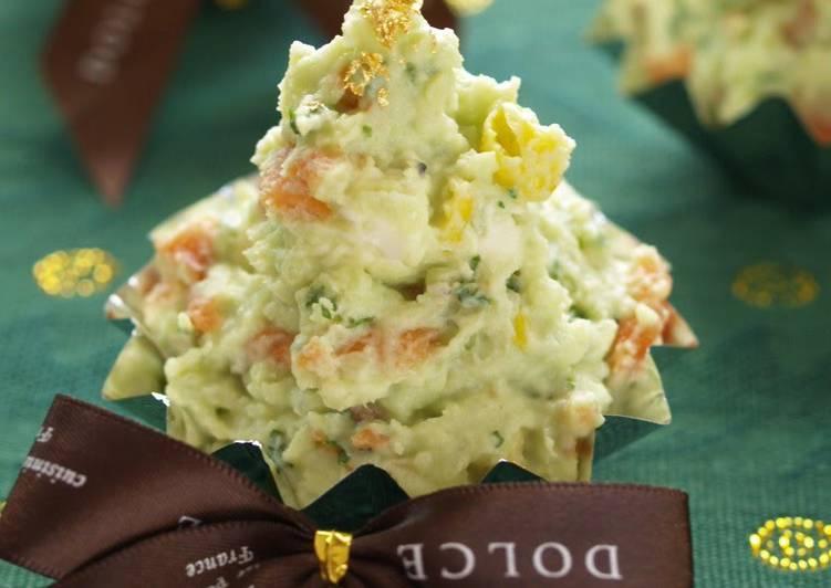 Recipe: Delicious Creamy Christmas Tree Salad