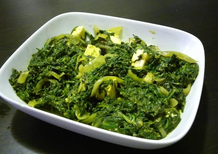 Spinach bhajj