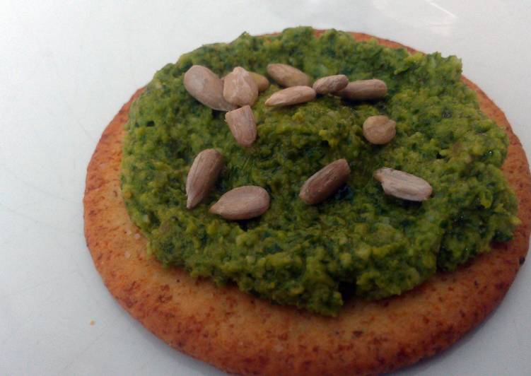 Kale Pesto With Toasted Sunflower Seeds