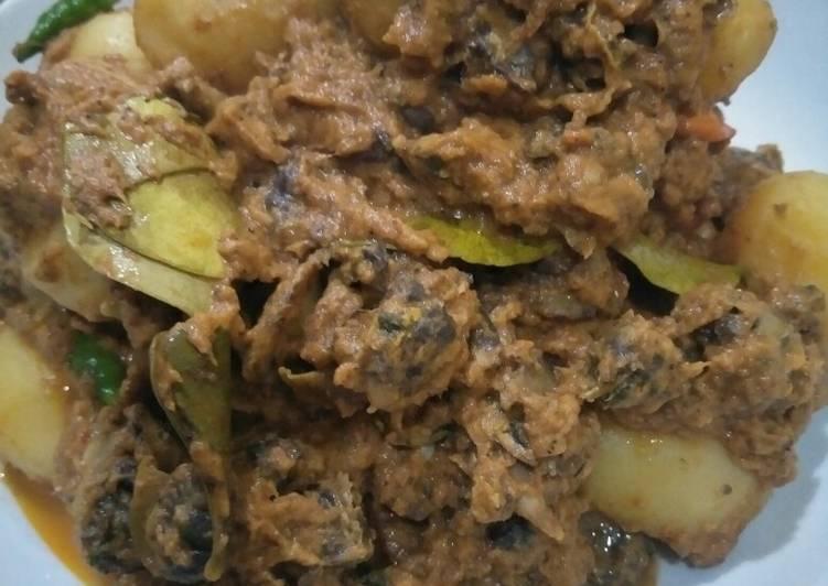 Resep rendang kerang dan kentang