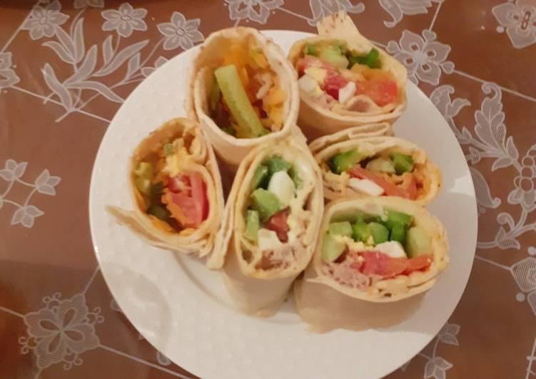 Recette  Wrap au légumes