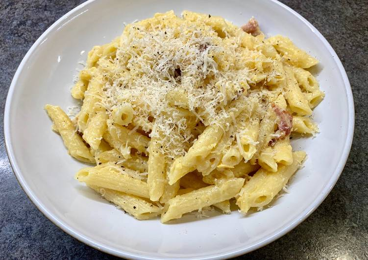 Easiest Way to Cook Tasty Pasta Carbonara – the Italian Way with a twist! #my cookbook