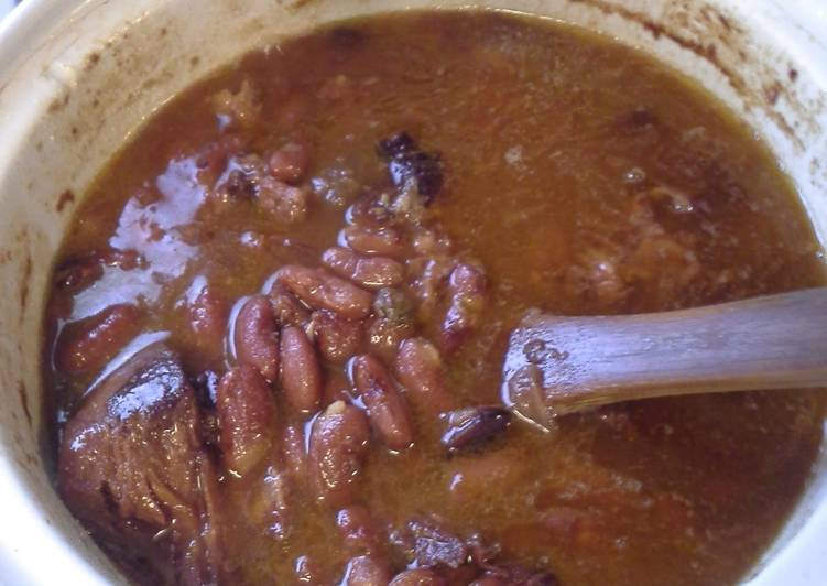 30 Minute Step-by-Step Guide to Make Autumn Red beans with ham