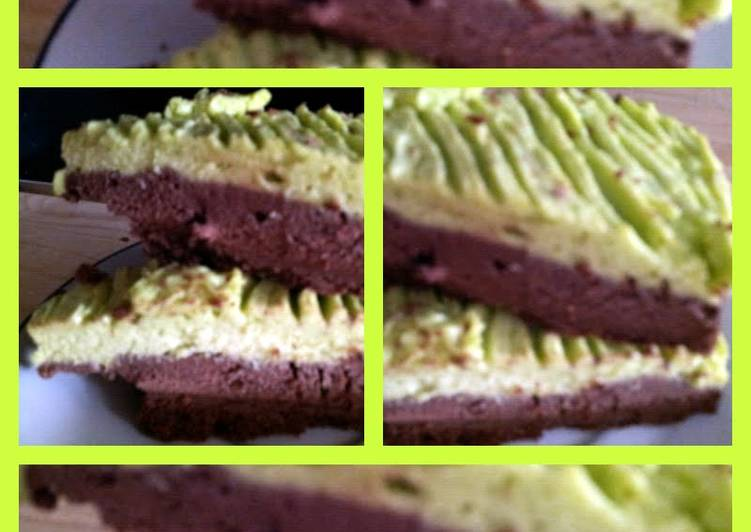 AMIEs Chocolate Pistachio cheesecake