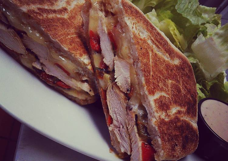 Easiest Way to Cook Perfect Santa fe grilled chicken panini