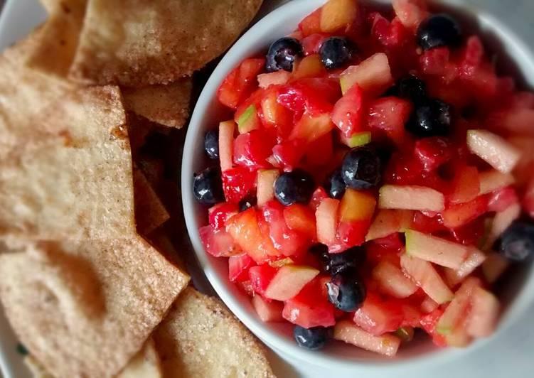 Fruit Salsa w/Cinnamon Sugar Tortilla Chips
