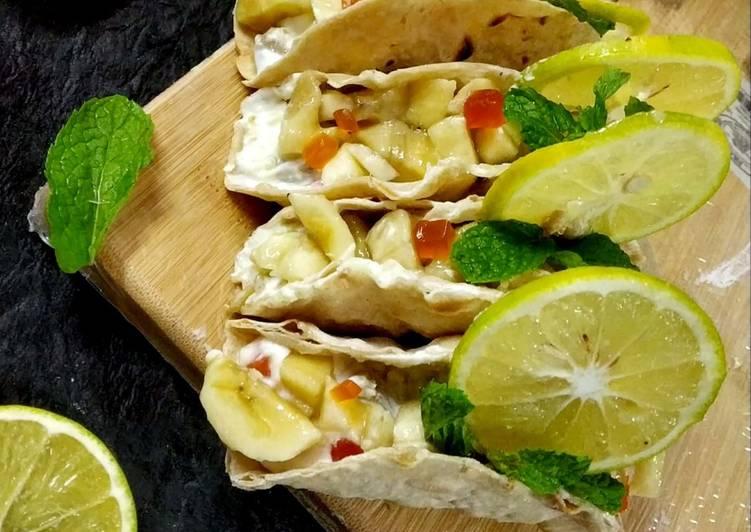 How to Make Most Popular Falahari tacos srikand fruit stuff