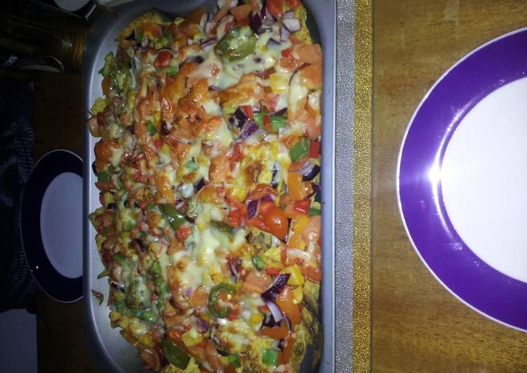 Homemade Salsa and added nachos 2 -4 people