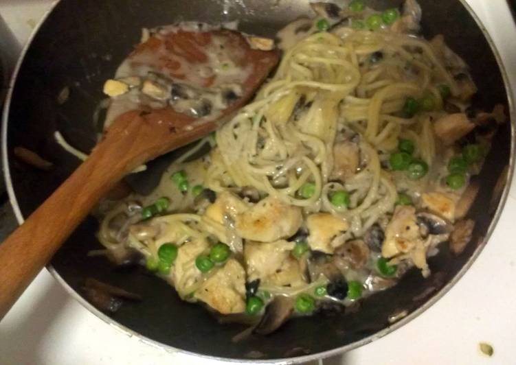 Easiest Way to Make Award-winning Chicken and mushroom spaghetti