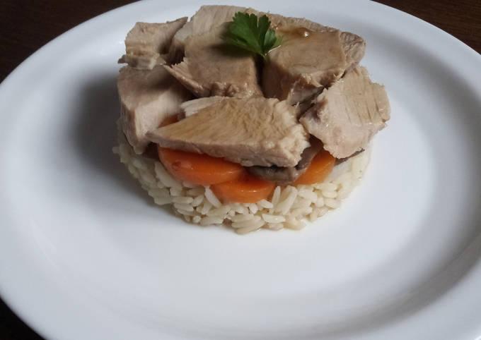 Rouelle de porc et riz créole