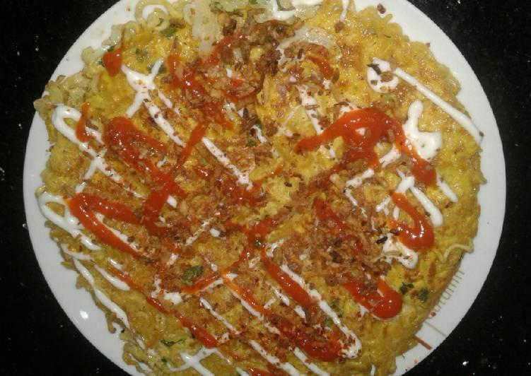 Omlete egg mi ayam #5menuterbaruku
