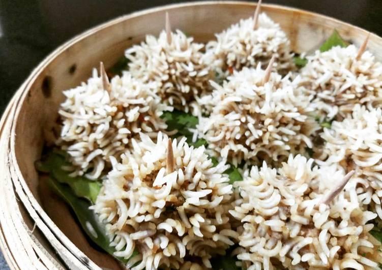 Recipe of Super Quick Homemade Ji-Fan Dimsum # Chicken Porcupine # Chicken Flower Dumpling
