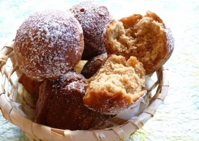 Crisp & Fluffy Brown Sugar & Soy Milk Rice Flour Donut Holes