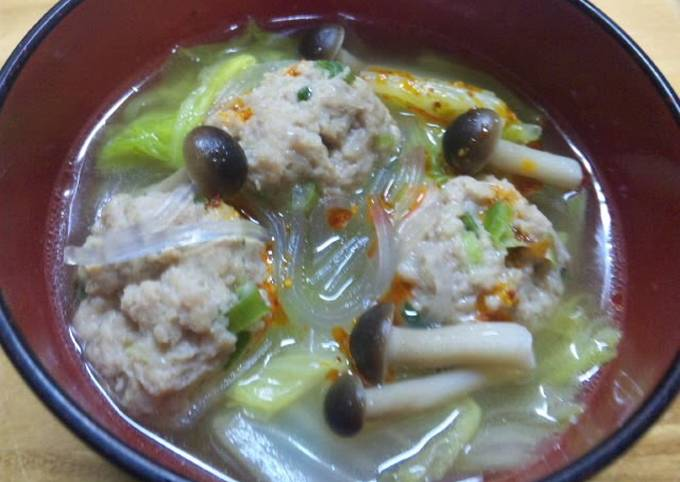 Fluffy Meatballs & Chinese Cabbage Soup