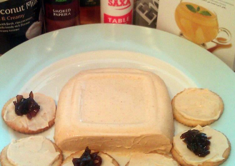 30 Minute Recipe of Refreshing Vickys Coconut Milk 'Cheddar' Cheese, GF DF EF SF NF
