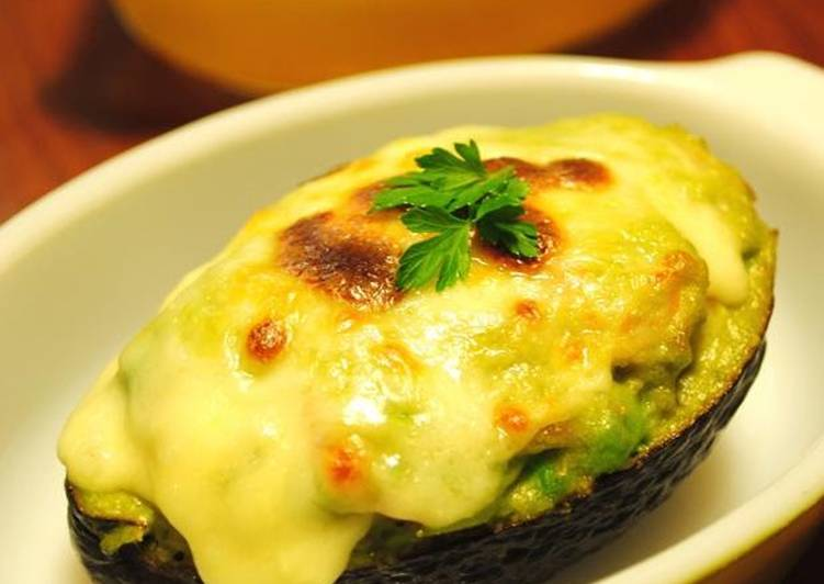 Recipe: Delicious Avocado and Shrimp au Gratin