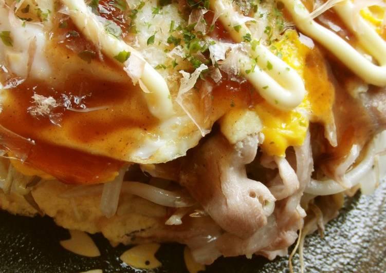 Low-Sugar Hiroshima Okonomiyaki with Okara & Bean Sprouts - Laurie G Edwards