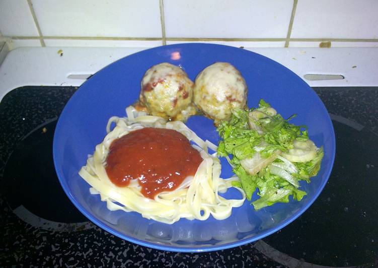 Recipe: Tasty Chicken Parmesan Meatballs