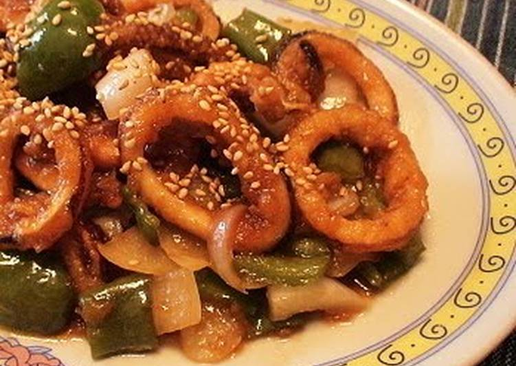 Step-by-Step Guide to Make Award-winning Refreshing Squid Stir-Fry with Pre-Made Sushi Vinegar