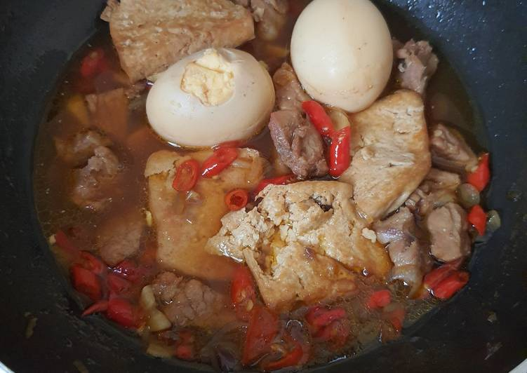 Semur Daging Telur Tahu (Gampang Banget)