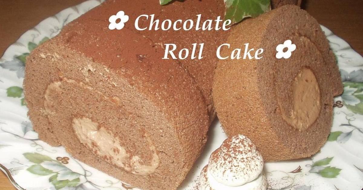 Fluffy Chocolate Roll Cake