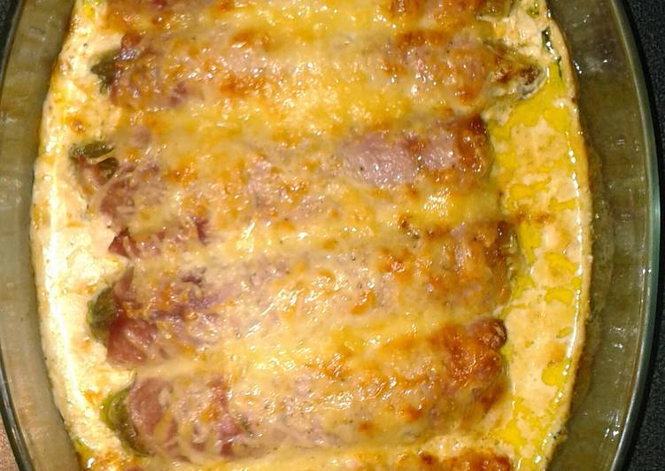 Recipe of Quick O'gratin chicory and ham
