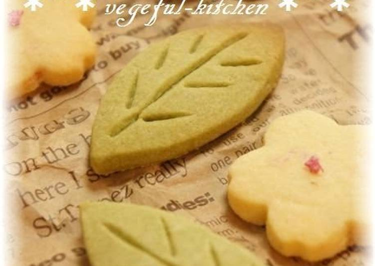 Simple Cookies with Rice Flour and Green Teea