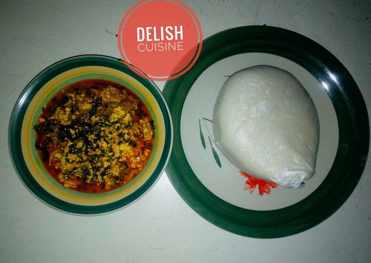 Your State Of Health Can Be Effected By The Foods You Decide To Eat Egusi (melon soup) and semovita