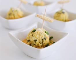 Albóndigas de Pavo con Espinacas en salsa de Calabaza