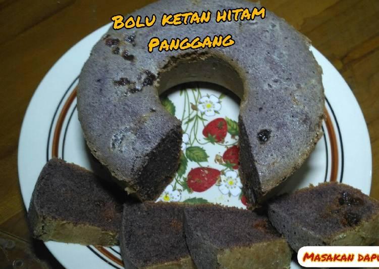 Resep Cake/Bolu KETAN HITAM Versi Kukus dan Panggang