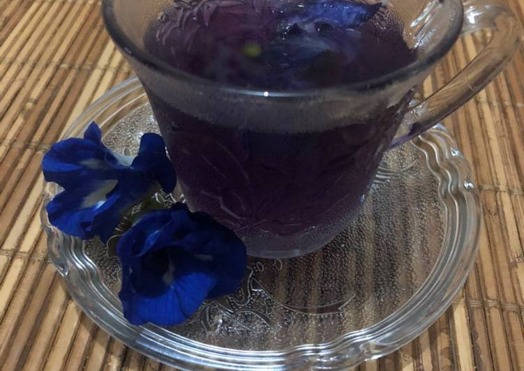 15. Teh Bunga Telang Ungu #beveragediary