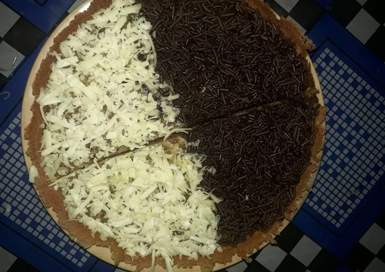 Bagaimana Menyiapkan #1. Martabak Manis coklat keju yang Lezat Sekali