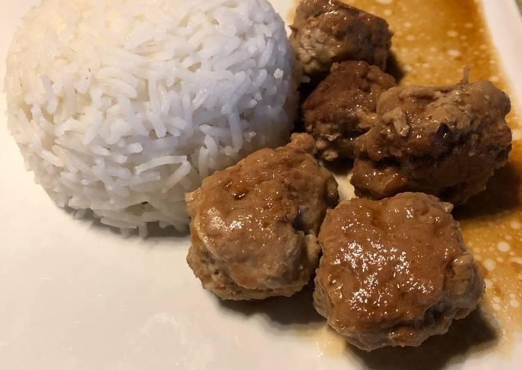 La Meilleur Recette De Boulettes de porc Teriyaki
