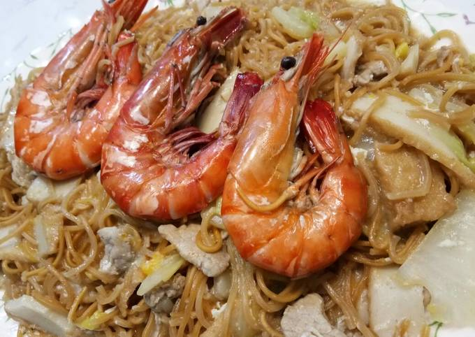 How To Cook Fresh Water Prawn Noodle So Easy