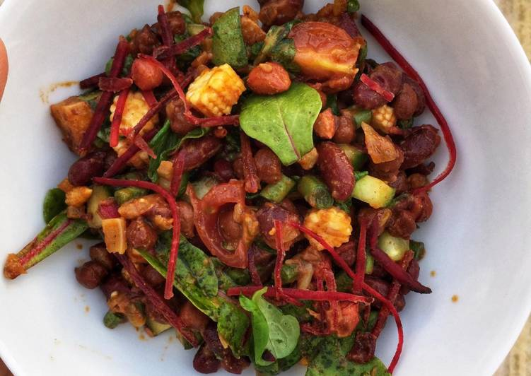 Easiest Way to Make Appetizing Mixed bean and Paneer Salad