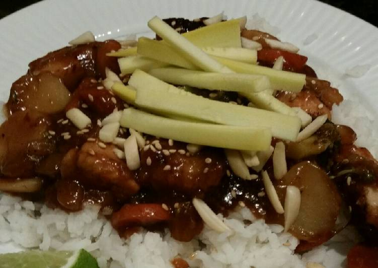 Brad's sweet and spicy hoisin chicken stir fry