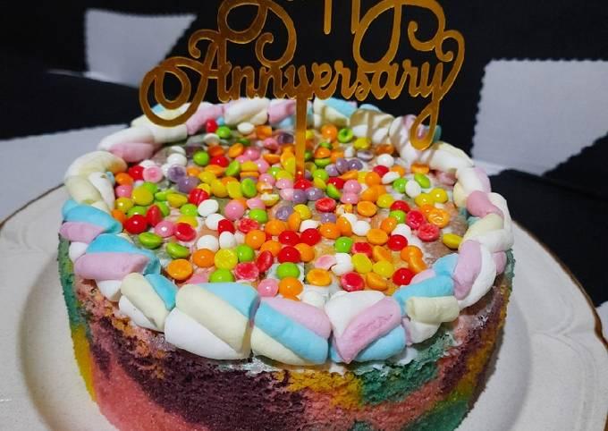 Resep Unicorn Ogura Cake Oleh Dapur Ibu Aira Cookpad
