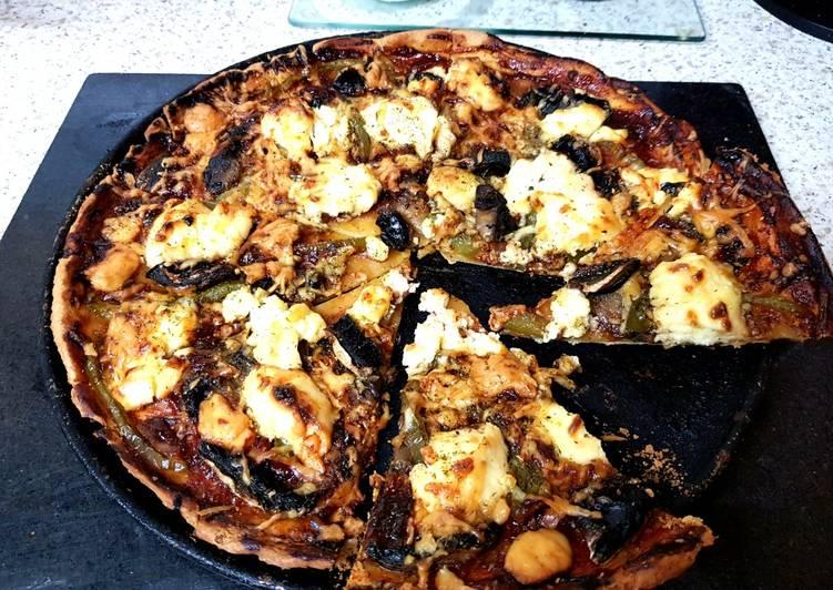 How to Make Favorite My BBQ Mushroom 2 Cheese Thin Crust Pizza. 😊
