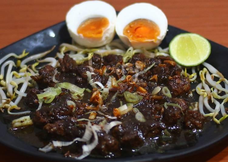 Rawon daging sapi 👍👩🍳 khas jawa timur