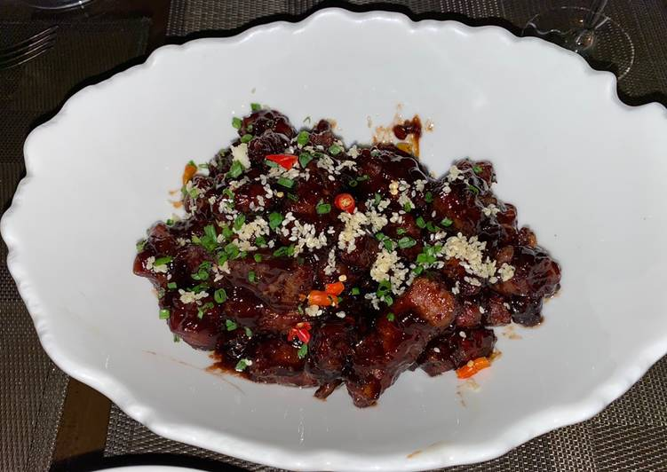 Sticky and Sweet Crispy Beef - WOW