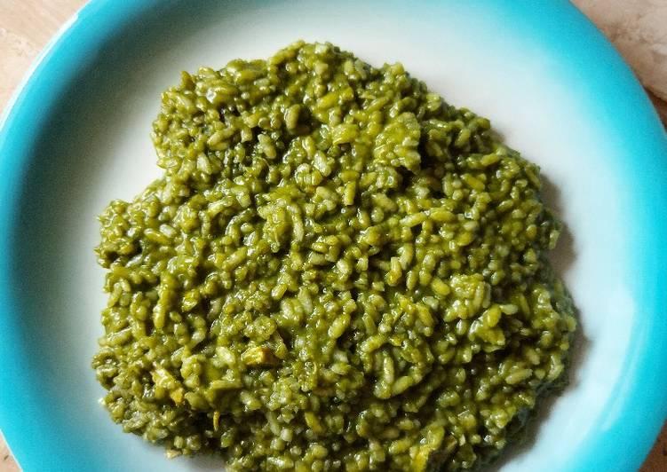 Ricetta Risotto agli spinaci e bocconcini di pollo