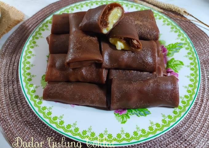 Langkah-Langkah Memasak Dadar Gulung Coklat & vla keju, Sempurna