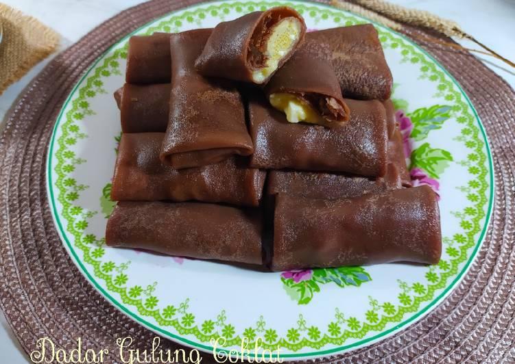 Dadar Gulung Coklat & vla keju