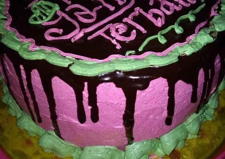 Brownies cake ultah simple - cookandrecipe.com