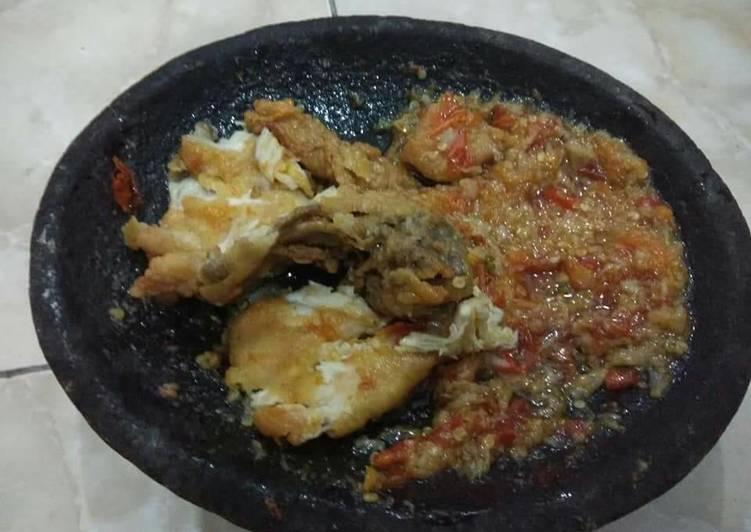Ayam geprek so nice 😊